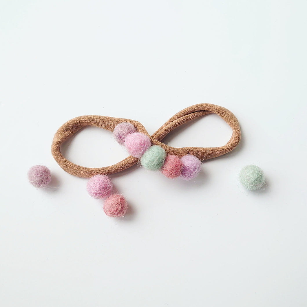 Mini Felt Ball Headband