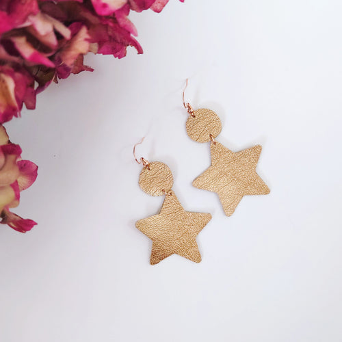 'Gina' Gold Star Earrings