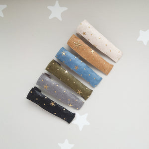 Fabric Fringe Clips star set