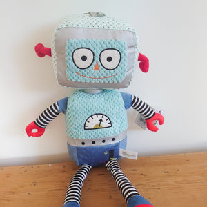 Light Blue Robot by Wilberry