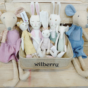 Linen Hare Girl by Wilberry