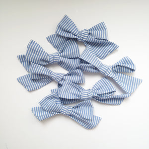 Beautiful blue striped handtied bows