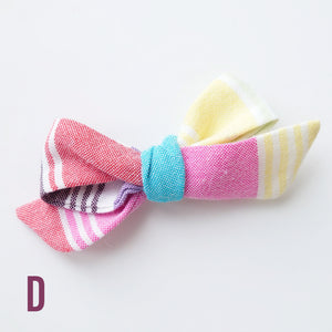 Rainbow Stripe Bows
