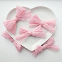 Load image into Gallery viewer, Gorgeous Limited Edition Shimmering Pink Tulle Bows