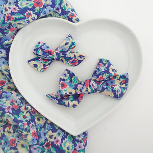 Beautiful Blue Floral Bows