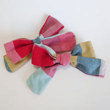 Load image into Gallery viewer, Autumn Check Handtied Bows
