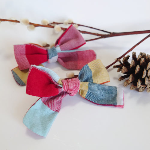 NEW Autumn Check Handtied Bows