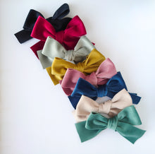Load image into Gallery viewer, Beautiful Over-sized Vintage Velvet Bows (available in a range of colours)