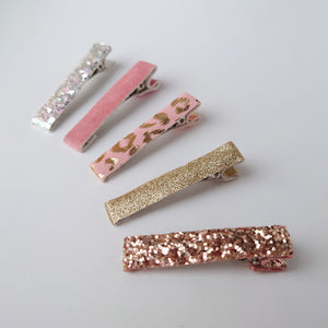 Rose Gold Fringe Clips