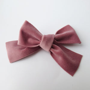 Beautiful Over-sized Vintage Velvet Bows (available in a range of colours)