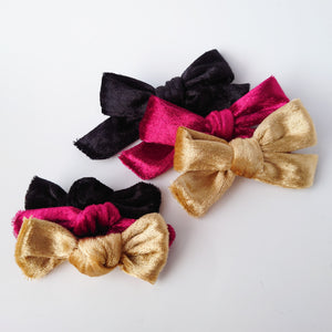Three gorgeous Crushed velvet bows
