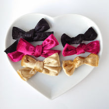 Load image into Gallery viewer, Three gorgeous Crushed velvet bows