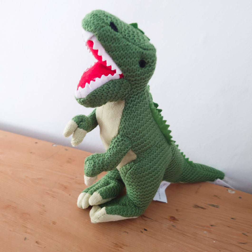 Knitted Green T-Rex Dinosaur by Wilberry