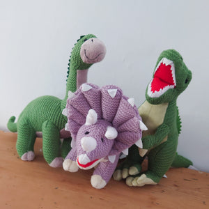Knitted Brontosaurus Dinosaur by Wilberry