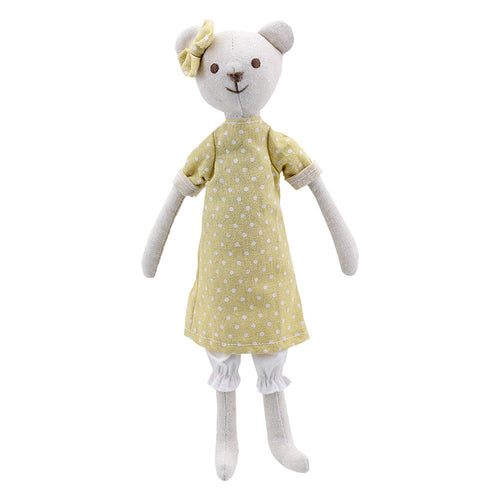 Linen Yellow Bear Girl by Wilberry