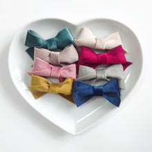 Load image into Gallery viewer, Vintage Velvet Mini Bows (available in a range of colours)