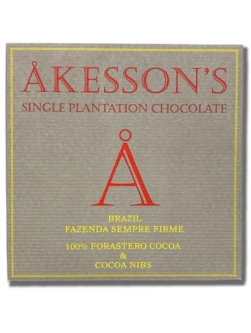 Akesson's Brazil 100% Dark Chocolate - Chocolate Collective Canada