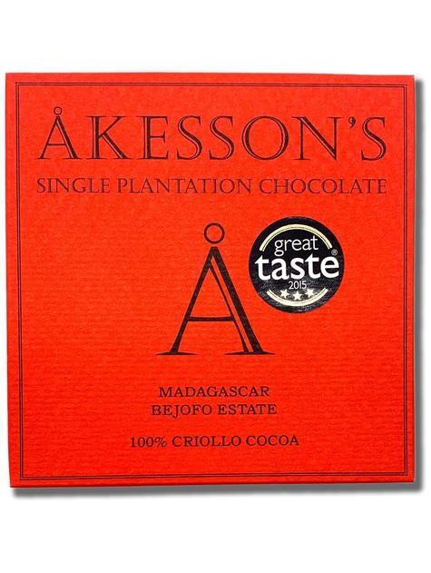Akesson's Madagascar 100% Dark Chocolate (Organic) - Chocolate Collective Canada