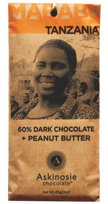 Askinosie Tanzania 60% Dark Chocolate with peanut butter