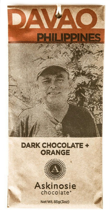 Askinosie Philippines 58% Dark Chocolate with organic oranges - Chocolate Collective Canada