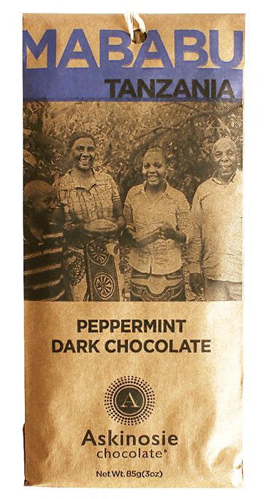 Askinosie Tanzania 58% Dark Chocolate with peppermint & cardamom - Chocolate Collective Canada