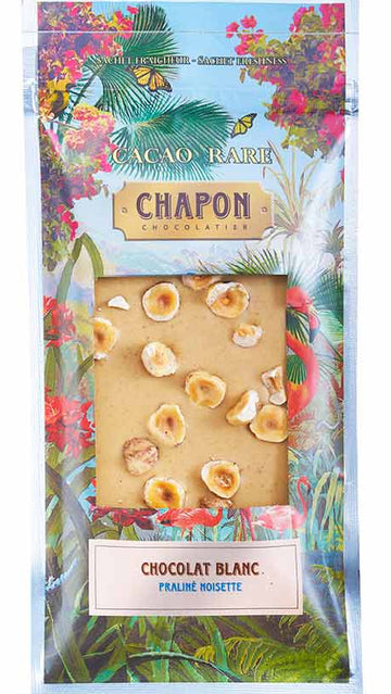 Chapon White Chocolate with hazelnut praline