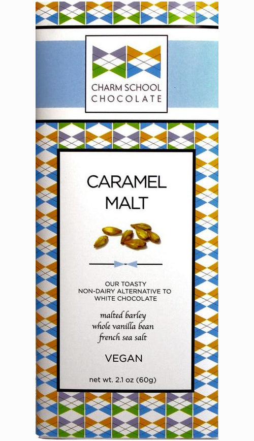 Charm School Coconut Milk White Chocolate with malted barley & sea salt (Vegan)