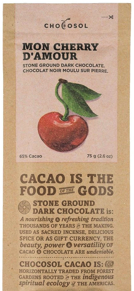 ChocoSol Mexican 65% Dark Chocolate with Cherries - Chocolate Collective Canada