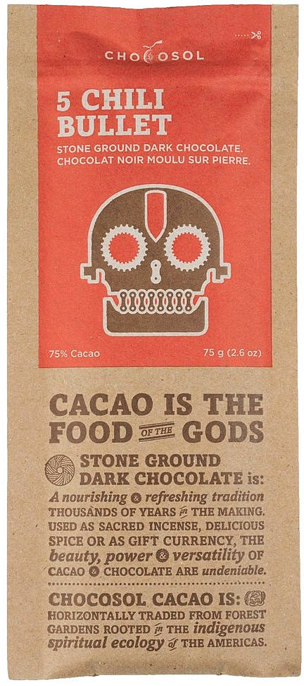 Chocosol Mexican 75% Dark Chocolate with chili - Chocolate Collective Canada