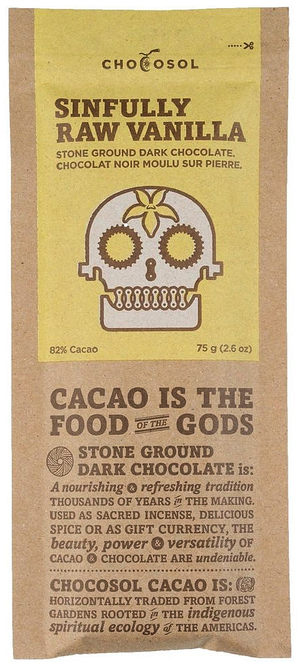 ChocoSol Mexican 82% Dark Chocolate with raw vanilla - Chocolate Collective Canada