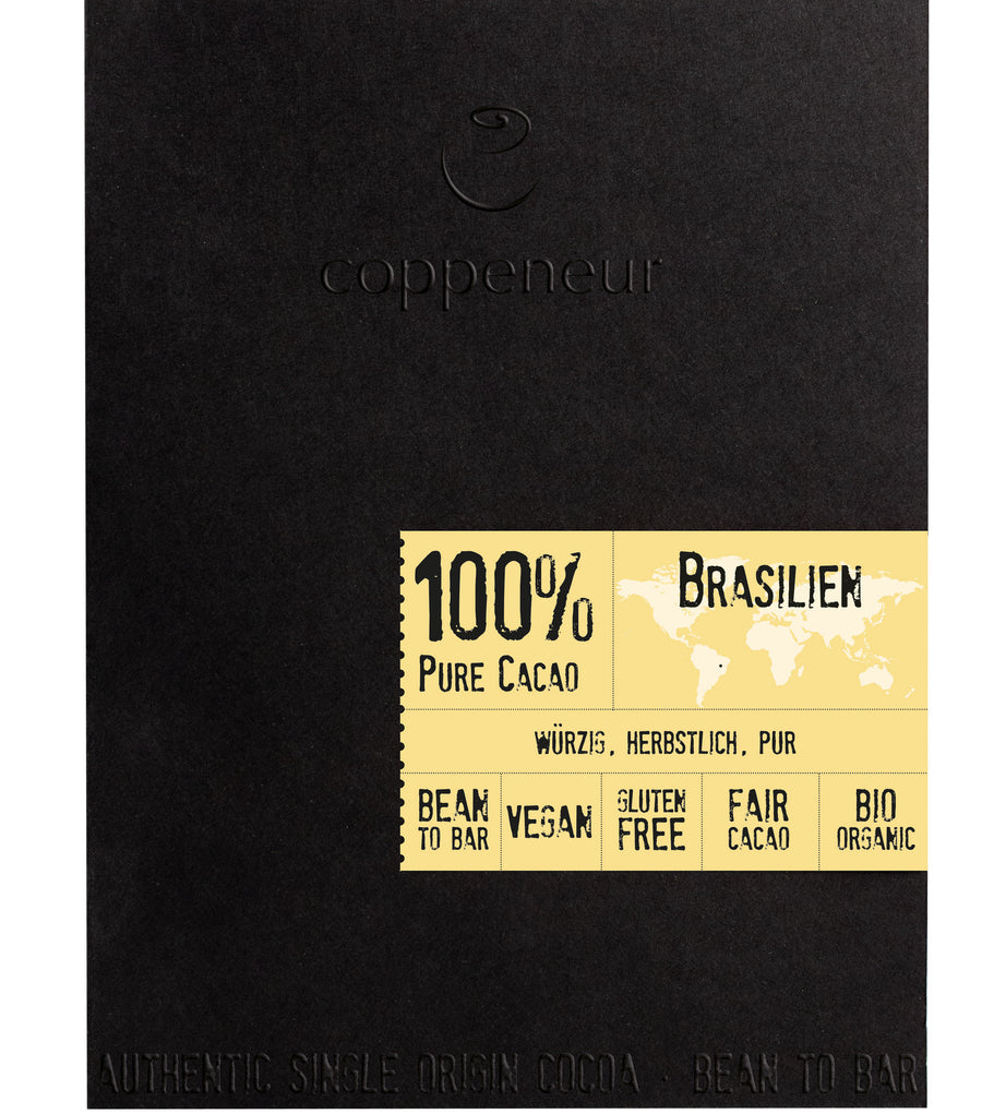 Coppeneur Brazil 100% Dark Chocolate (Organic)
