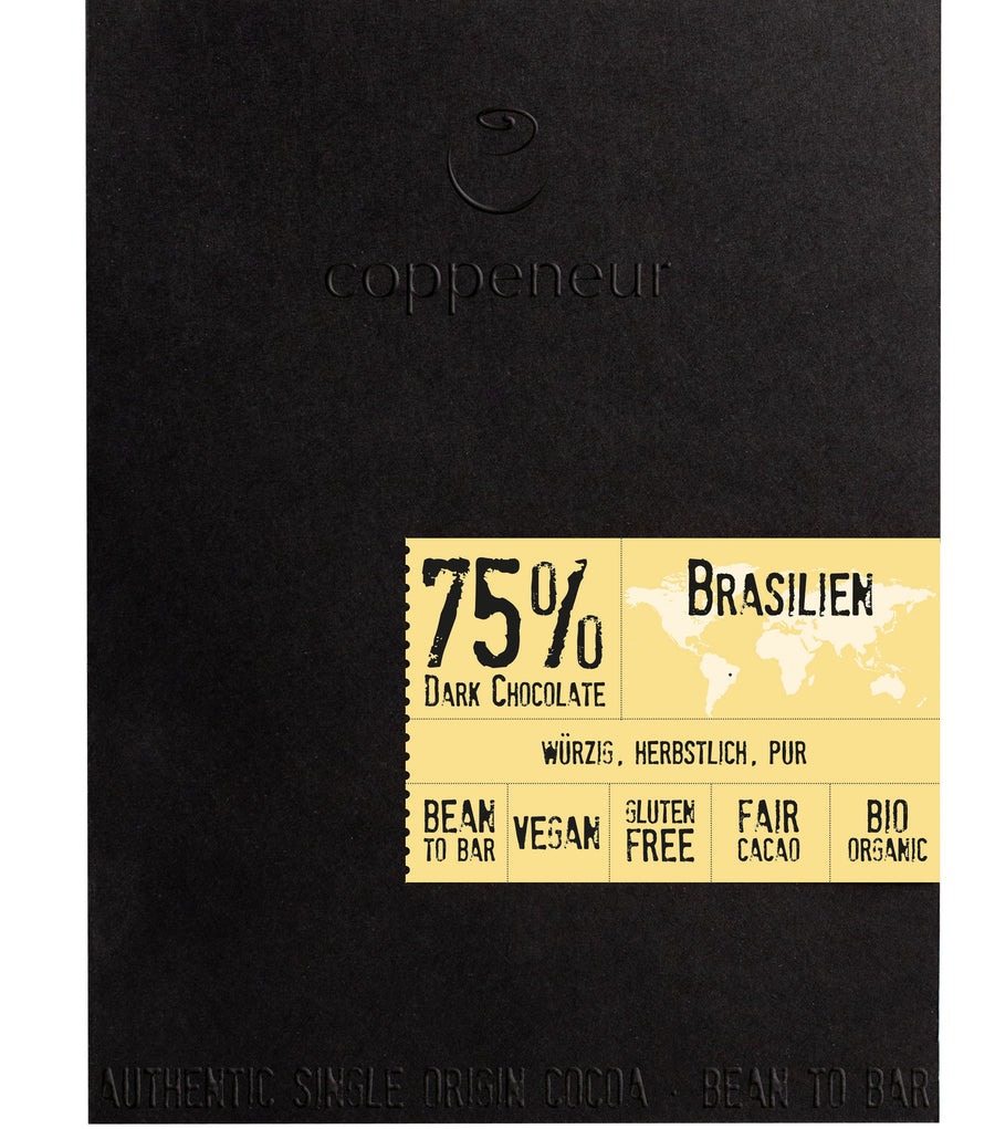 Coppeneur Brazil 75% Dark Chocolate (Organic)