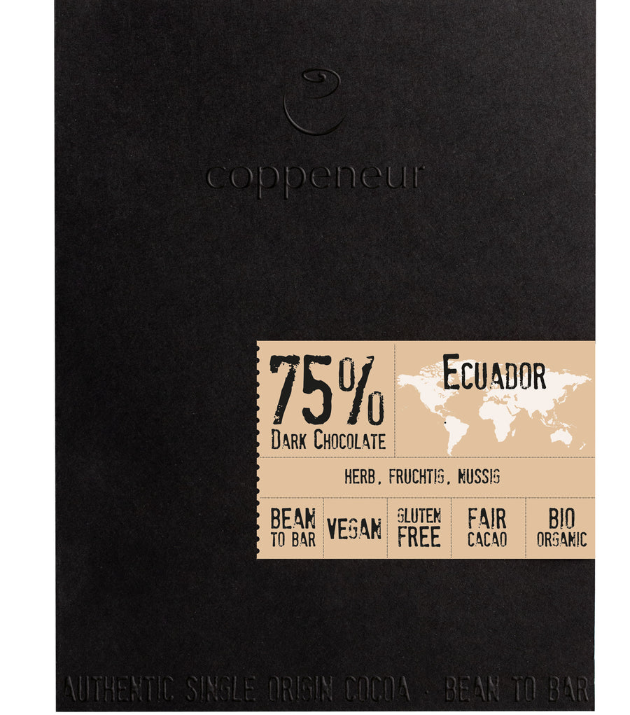 Coppeneur Ecuador 75% Dark Chocolate (Organic)