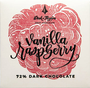 Dick Taylor 72% Dark Chocolate with vanilla and raspberry