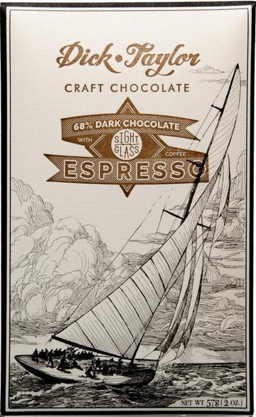 Dick Taylor 68% Dark Chocolate with Espresso - Chocolate Collective Canada