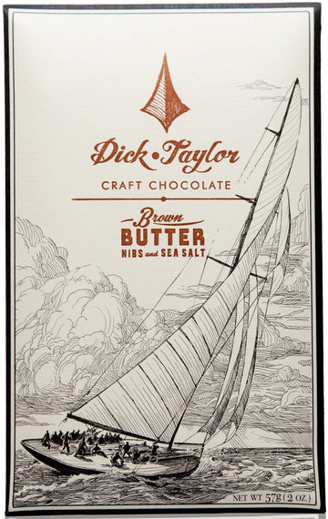 Dick Taylor Dark Chocolate with brown butter, cocoa nibs & sea salt (Organic) - Chocolate Collective Canada