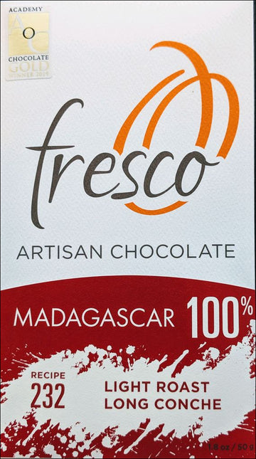 Fresco Madagascar 100% Dark Chocolate (232) - Chocolate Collective Canada