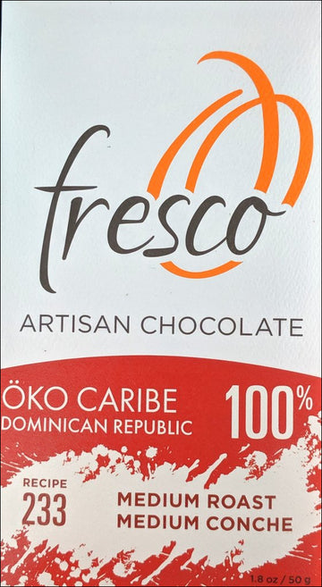 Fresco Oko Caribe Dominican Republic 100% Dark Chocolate (233) - Chocolate Collective Canada
