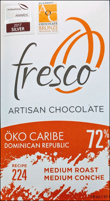 Fresco Oko Caribe Dominican Republic 72% Dark Chocolate (224) - Chocolate Collective Canada