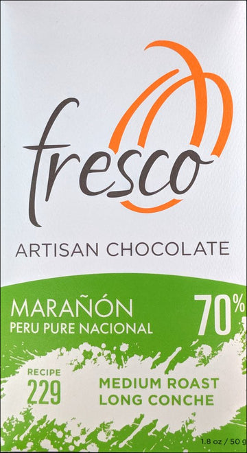 Fresco Maranon Peru 70% Dark Chocolate (229) - Chocolate Collective Canada