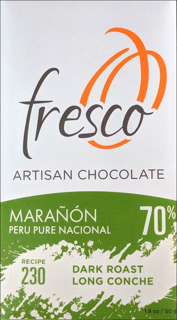 Fresco Maranon Peru 70% Dark Chocolate (230) - Chocolate Collective Canada