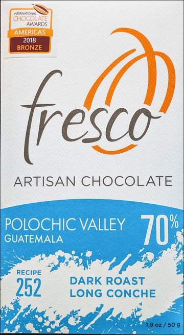 Fresco Polochic Guatemala 70% Dark Chocolate (252) - Chocolate Collective Canada
