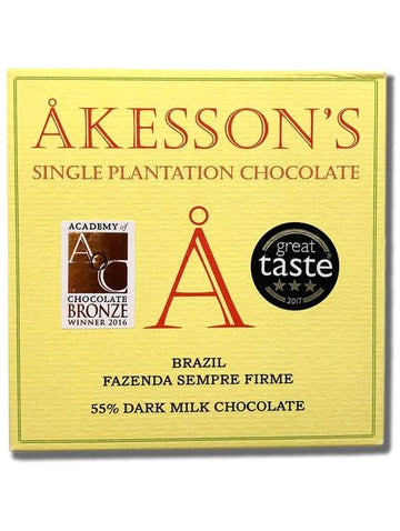 Akesson's Brazil 55% Dark Milk Chocolate - Chocolate Collective Canada