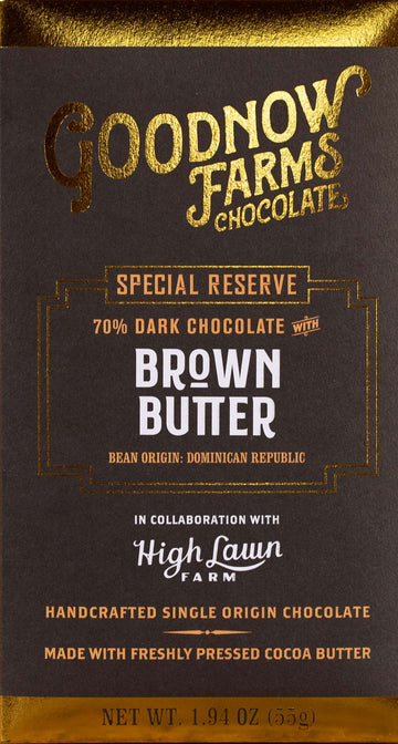 Goodnow Farms Dominican Republic 70% Dark Chocolate with browned butter