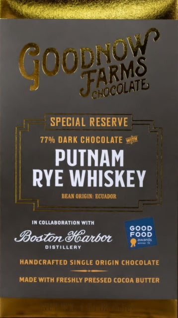 Goodnow Farms Ecuador 77% Dark Chocolate with Putnam Rye Whisky