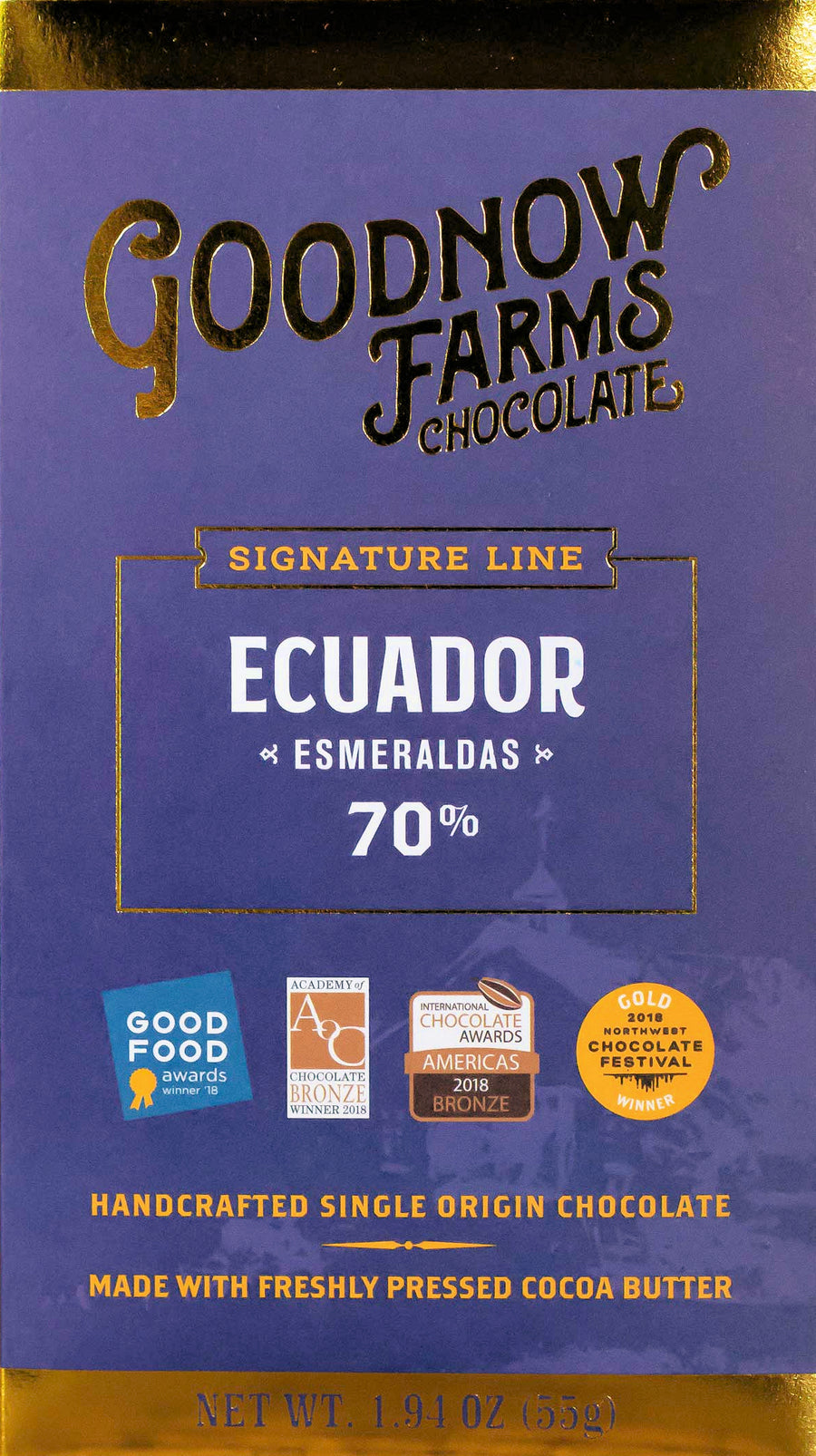 Goodnow Farms Ecuador 70% Dark Chocolate - Chocolate Collective Canada