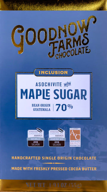 Goodnow Farms Guatemala 70% Dark Chocolate with maple sugar - Chocolate Collective Canada