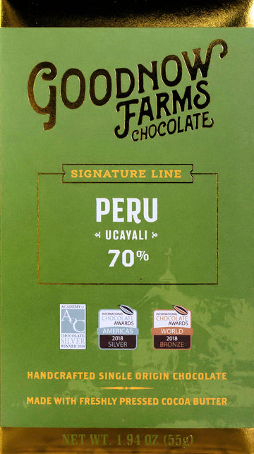 Goodnow Farms Peru 70% Dark Chocolate - Chocolate Collective Canada