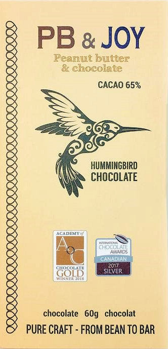 Hummingbird 65% Dark Chocolate with peanut butter - Chocolate Collective Canada