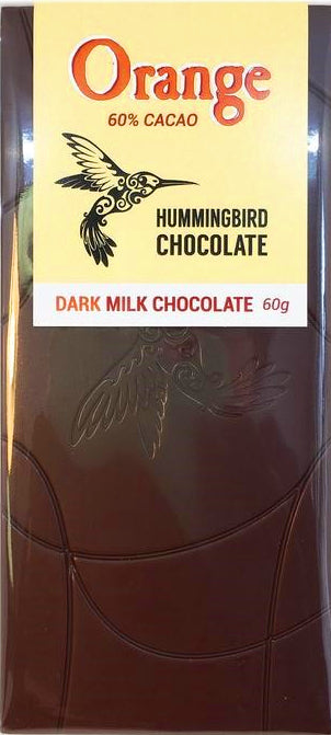 Hummingbird 70% Dark Chocolate with orange - Chocolate Collective Canada